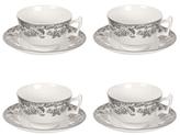 Spode Delamere Rural Teacups and Saucers (Set of 4)