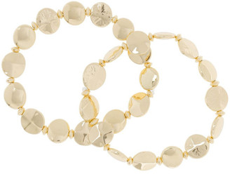 Basque 2 Pack Gold Stretch Bracelet
