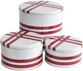 Primo Grosgrain Round Cake Tin (Set of 3), Raspberry