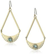 Lucky Brand Abalone Semi-Circle Drop Earrings