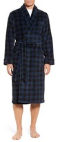 Nordstrom Men's Buffalo Check Fleece Robe