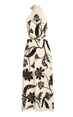 Johanna Ortiz Ancient Dynasty Silk Halter Dress