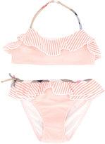 Burberry striped bikini - kids - Polyamide/Polyester/Spandex/Elastane - 12 yrs