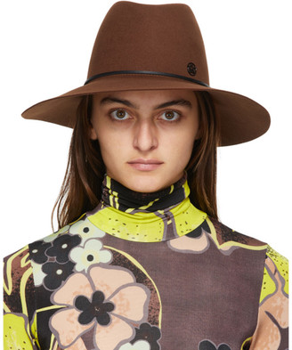 Maison Michel Brown Kate Panama Hat