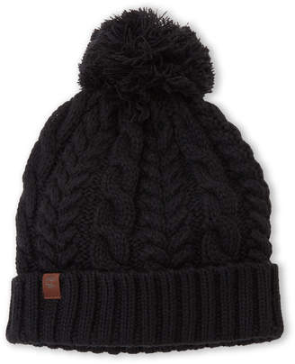Timberland Black Cable Knit Beanie