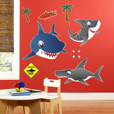 BuySeasons Sharks Giant Wall Decals