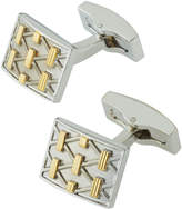 Hickey Freeman Two-Tone Crisscross Bar Cuff Links, Silver Multi