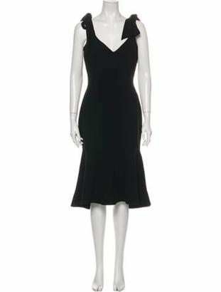 Rebecca Vallance V-Neck Midi Length Dress w/ Tags Black