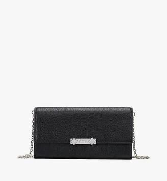 MCM Milano Crossbody Wallet in Goatskin Leather