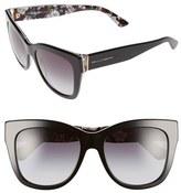 Dolce & Gabbana Women's 55Mm Retro Sunglasses - Black