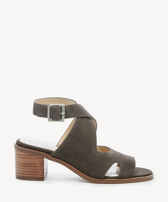 Sole Society Women's Tresey Cutout Sandals Stone Size 5 Suede From