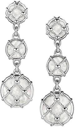 Judith Ripka Isola Sterling Silver & Mother-Of-Pearl Triple Drop Earrings