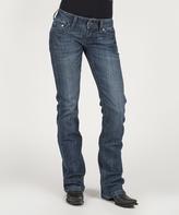 Stetson Blue Braided-Rope Back Pocket Straight-Leg Jeans - Women's