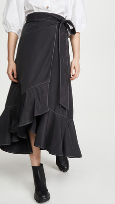 Ganni Recylced Heavy Polyester Skirt