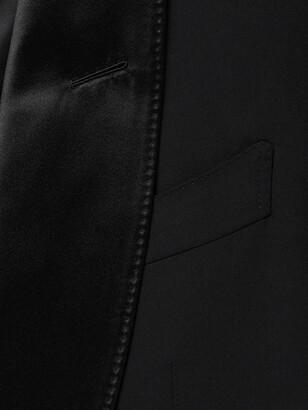 Tom Ford Slim-Fit Satin-Trimmed Stretch-Wool Tuxedo Jacket - Men - Black - IT 44