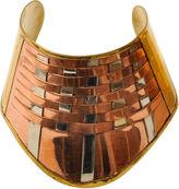 One Kings Lane Vintage Tri-Color Metal Woven Cuff Bracelet