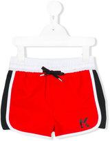 Karl Lagerfeld logo swim shorts - kids - Polyester - 4 yrs
