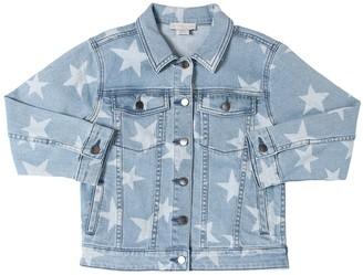 Stella McCartney Star Print Stretch Cotton Denim Jacket