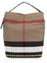 Burberry Ashby Medium Studded House Check Shoulder Bag