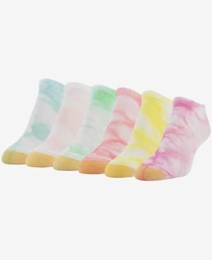 Gold Toe Women's Tie-Dye 6pk Liner Socks