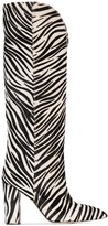 Paris Texas zebra-print 100mm knee-high boots