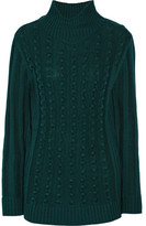 Opening Ceremony Ribbed-Knit Wool-Blend Turtleneck Sweater