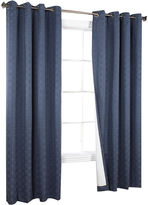 Asstd National Brand Irongate Blackout Jacquard Grommet-Top Curtain Panel