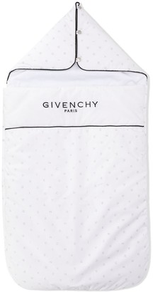 Givenchy Kids Logo Print Sleeping Bag