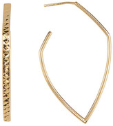 Argentovivo 18K Gold Plated Sterling Silver 44mm C-Hoop Earrings