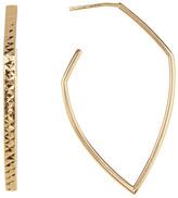 Argentovivo 18K Gold Plated Sterling Silver C-Hoop Earrings