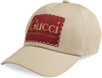 Gucci Canvas baseball hat with label