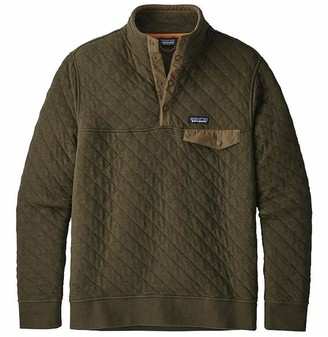 Patagonia Organic Cotton Quilt Snap T Pullover Sediment Green - L