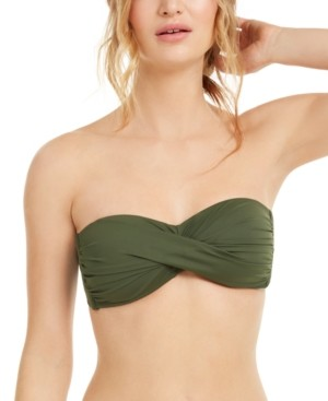 Bar III Twist Bandeau Bikini Top, Created for Macy's Women's Swimsuit