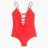 Madewell Mara Hoffman® Crisscross One-Piece Swimsuit in Coral