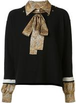 Sonia Rykiel jumper with shirt underlay - women - Silk/Cashmere/Virgin Wool - L