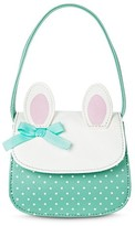 Cherokee Girls' Solid Floral No Closure Satchel White One Size