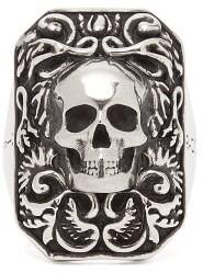 Alexander McQueen Skull Ring - Mens - Silver