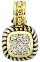 David Yurman Sterling Silver & 18k Yellow Gold Albion Diamond Enhancer Pendant