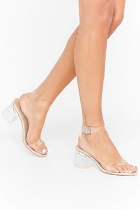 Nasty Gal Womens Steer Clear of 'Em Metallic Low Block Heels - grey - 3