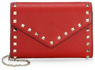 Valentino Rockstud Leather Wallet-On-Chain