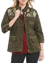 Democracy Sequin Yoke Contrast Utility Jacket