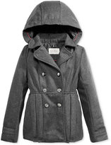 Jessica Simpson Hooded Double-Breasted Coat,Toddler Girls (2T-4T), Little Girls (2-6X) & Big Girls (7-16)