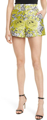 Alice + Olivia Cady Floral High Waist Shorts