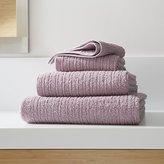 Crate & Barrel Ribbed Purple Bath Towels
