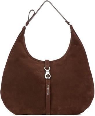 Miu Miu Suede Circle Shoulder Bag