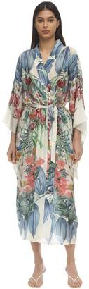Carolina K. Samantha Printed Silk Kimono