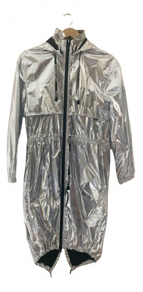 Paco Rabanne Silver Synthetic Trench coats