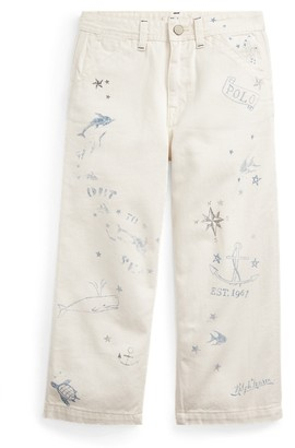 Ralph Lauren Nautical Wide-Leg Cotton Jean