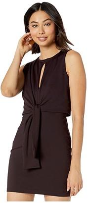 Susana Monaco Tied Overlay Slit Front Dress (Chianti) Women's Clothing