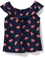 Old Navy Printed Ruffle-Trim Top for Toddler